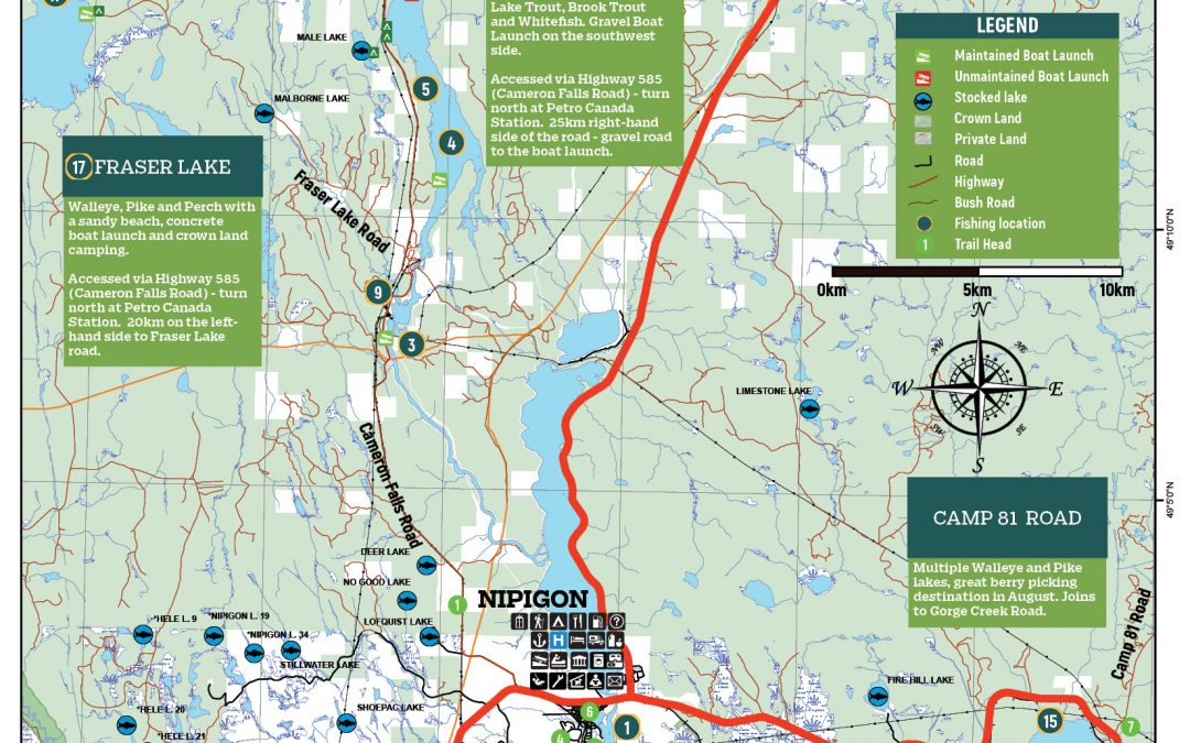 New Nipigon area and Lake Nipigon Maps