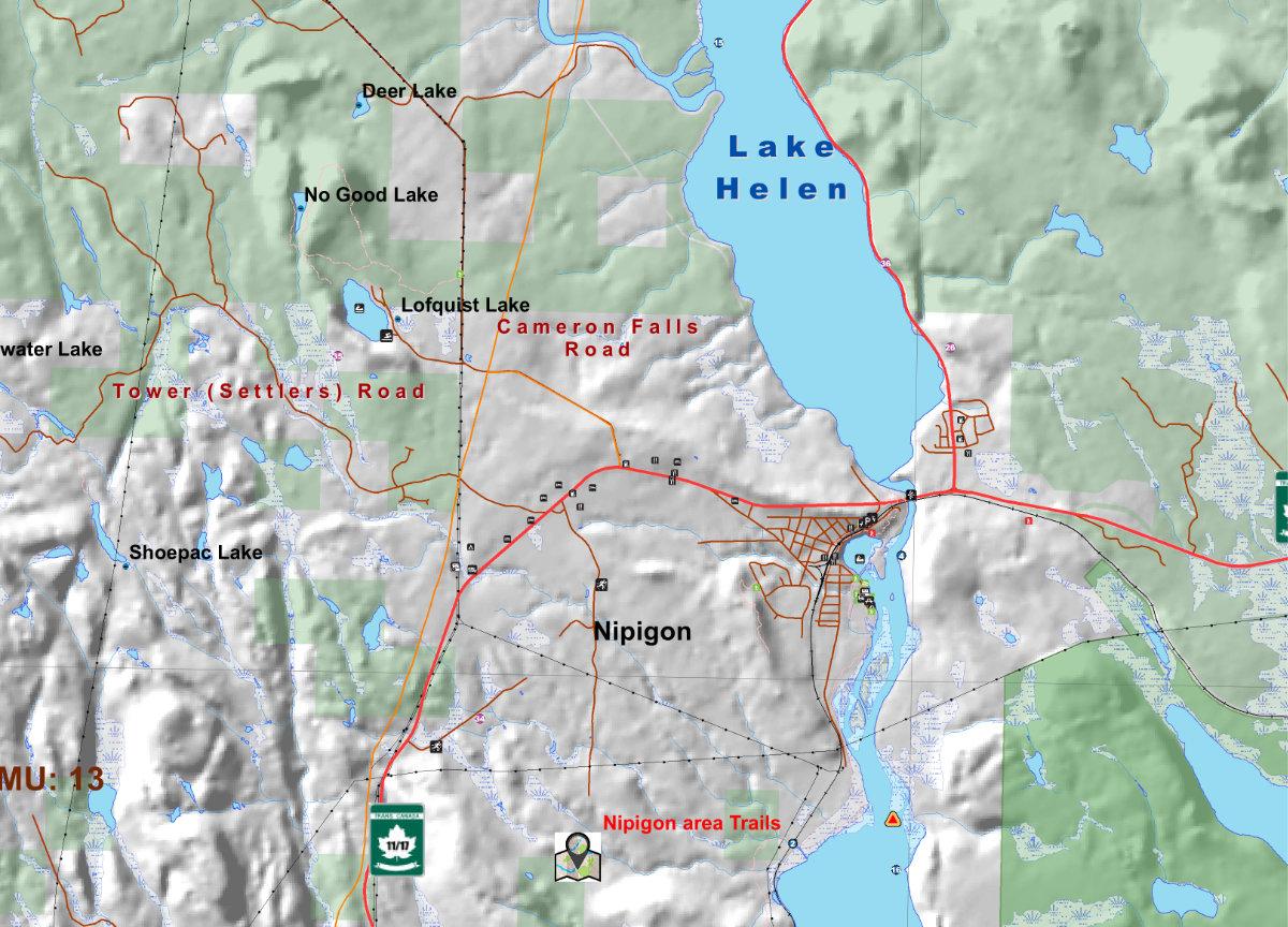 detail in Nipigon Adventure Map